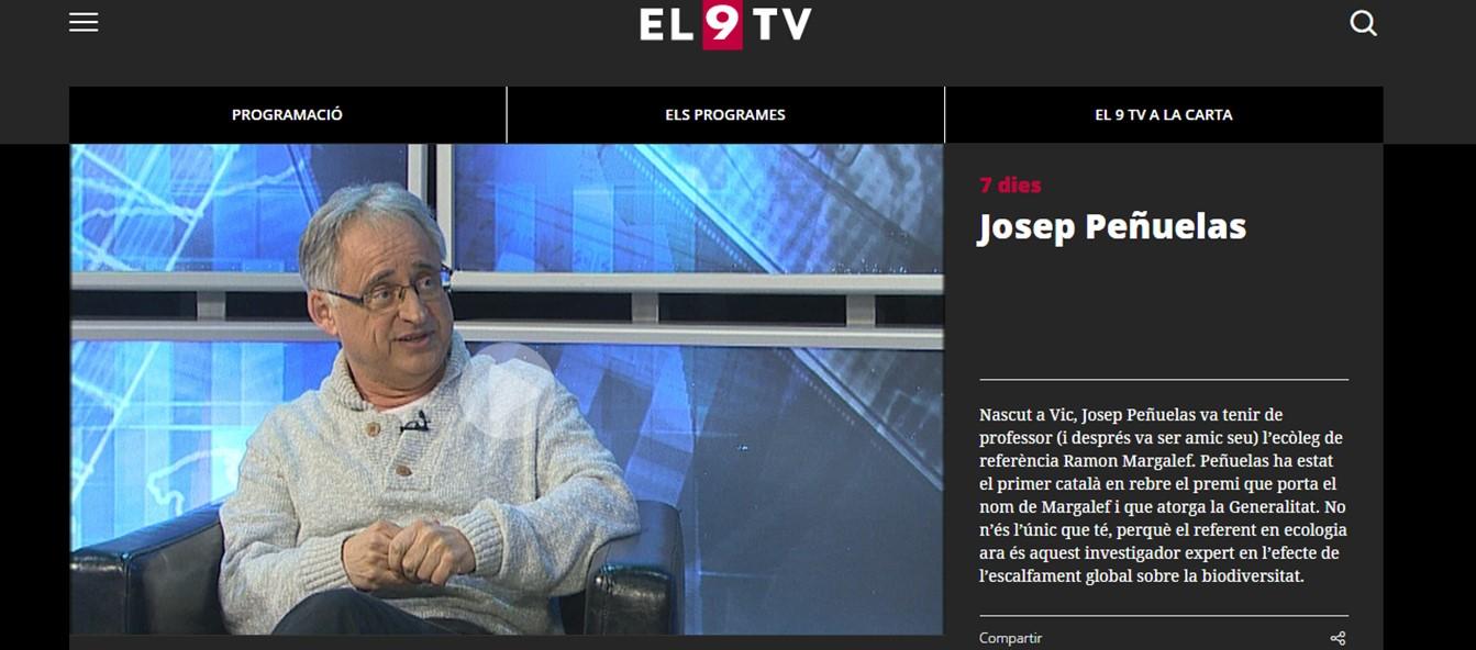 El 0 tv_entrevista Josep Penuelas_13012017