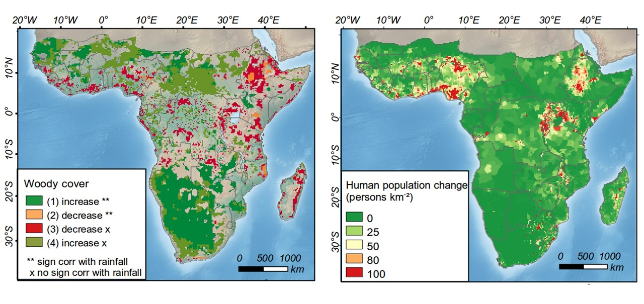 Sub Saharan Africa Climate Map.Human Population Growth Offsets Climate Driven Increase In